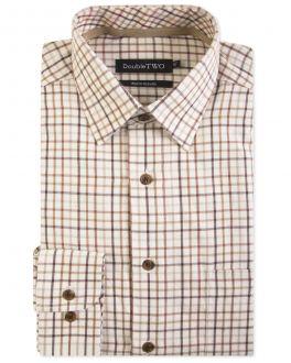 Brown Check Warm Handle Formal Shirt