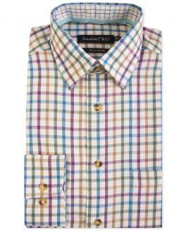 Mauve Check Warm Handle Formal Shirt