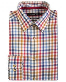 Gold Check Warm Handle Formal Shirt