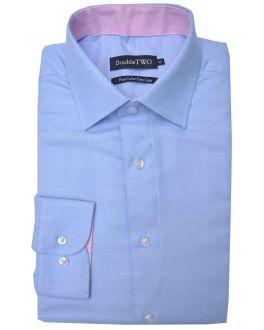 Pale Blue Herringbone Formal Shirt