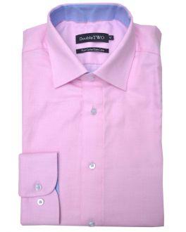 Pink Herringbone Formal Shirt