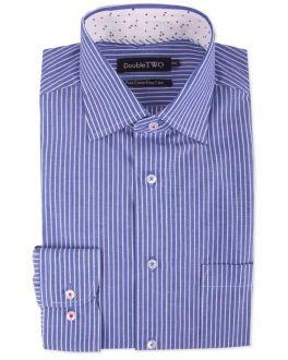 Blue and White Pin Stripe Formal Shirt