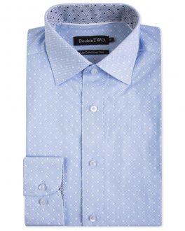 Blue Spotted Formal Shirt