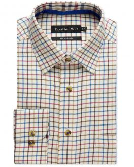 Brown Tattersall Check Warm Handle Shirt