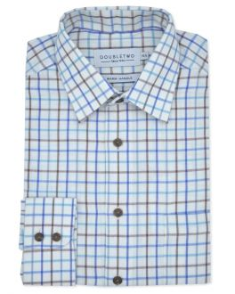 Blue Tattersall Check Long Sleeve Shirt