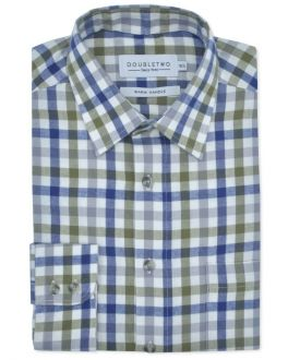 Olive Tattersall Large Check Long Sleeve Shirt