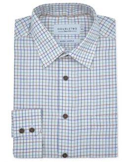 Grape Tattersall Check Long Sleeve Shirt