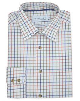 Rust Tattersall Check Long Sleeve Shirt