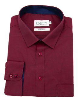 Wine Red Long Sleeve Formal Shirt