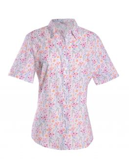 Multi Floral Semi Fitted Blouse
