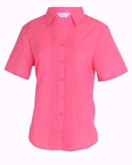 Rose Pleated Classic Fit Blouse