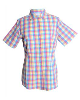 Lemon Check Fitted Blouse