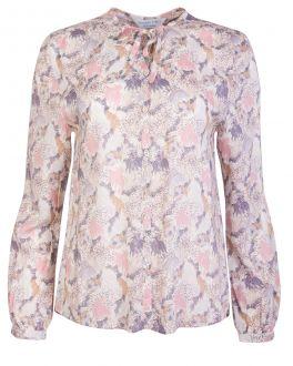 Blush and Cream Feather Print Women's Shirt