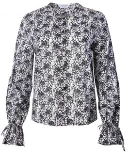 Charcoal Sketched Rose Print Women's Blouse