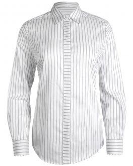 Grey Bar Stripe Women's Shirt