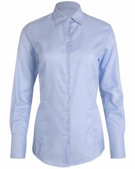 Blue Dogtooth Women's Fitted Shirt