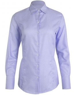 Lilac Dogtooth Women's Fitted Shirt