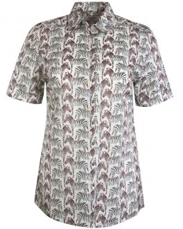 Cream Zebra Short Sleeve Women's Shirt