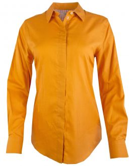 Gold Semi Fitted Women's Shirt