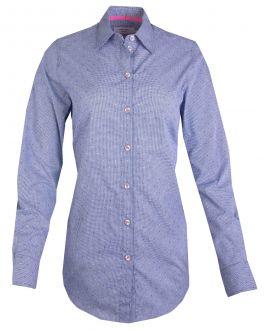 Blue Gingham Dot Women's Shirt