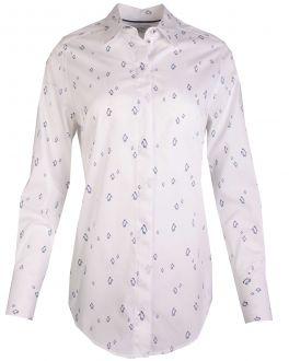 White Penguin Print Women's Shirt