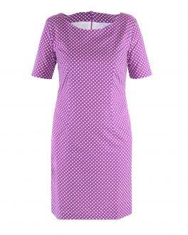 Wine Dot Ladies Dress