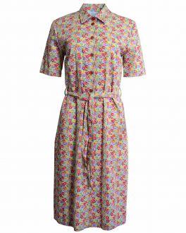Fern Floral Shirt Dress