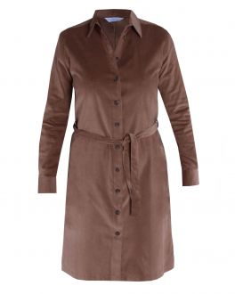 Brown Cord Shirt Dress