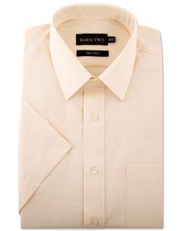 Cream Classic Easy Care Short Sleeve Shirt