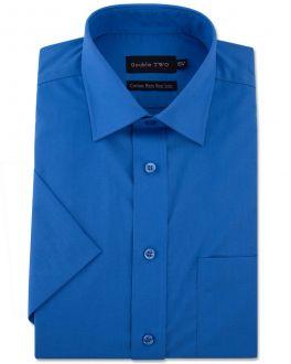Cobalt Blue Short Sleeve Non-Iron Shirt