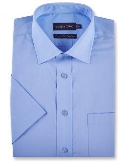 Fresh Blue Short Sleeve Non-Iron Shirt