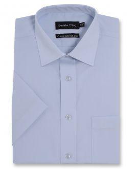 Sky Blue Short Sleeve Non-Iron Shirt