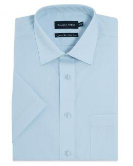 New Blue Short Sleeve Non-Iron Shirt