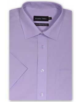 Lilac Short Sleeve Non-Iron Shirt