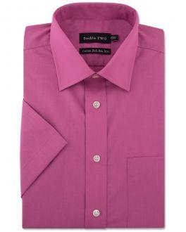 Dusky Pink Short Sleeved Non-Iron Shirt
