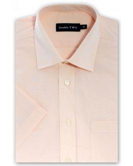 Peach Short Sleeved Non-Iron Shirt