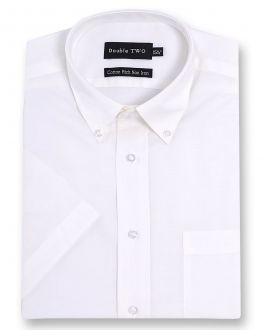 White Short Sleeve Non-Iron Button Down Oxford Shirt