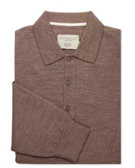 Bark Merino Blend Knitted Polo