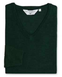 Evergreen Long Sleeve V Neck Sweater