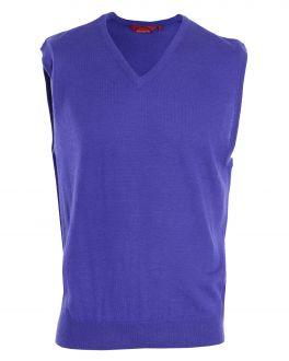 Purple Sleeveless V Neck Sweater