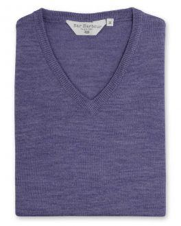 Marl Heather Sleeveless V Neck Sweater