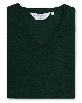 Evergreen Sleeveless V Neck Sweater