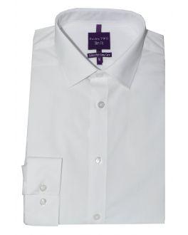 Slim Fit White Long Sleeve Non-Iron Shirt
