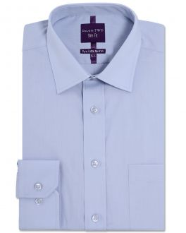 Slim Fit Sky Blue Long Sleeve Non-Iron Shirt
