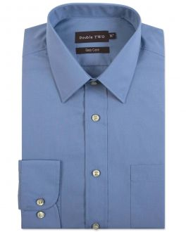 Cornflower Blue Classic Easy Care Long Sleeve Shirt