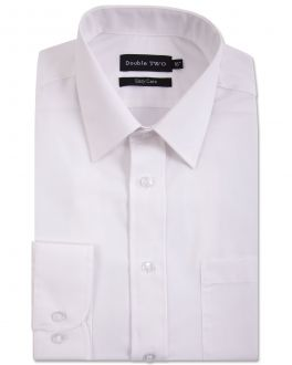 White Tall Fit Long Sleeved Shirt