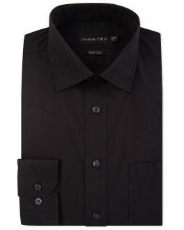 Black Classic Easy Care Long Sleeve Shirt