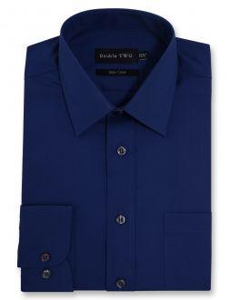 Navy Classic Easy Care Long Sleeve Shirt
