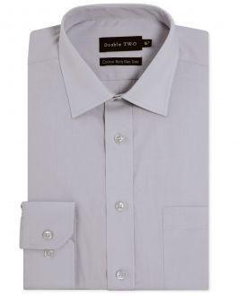 Silver Long Sleeve Non-Iron Shirt