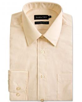 Cream Long Sleeve Non-Iron Shirt